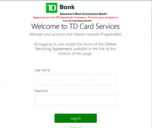 td bank login